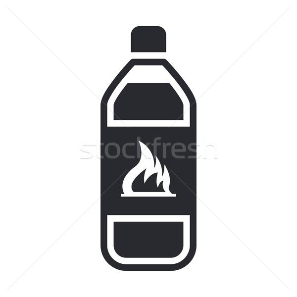 опасный бутылку икона химического жидкость опасность Сток-фото © Myvector