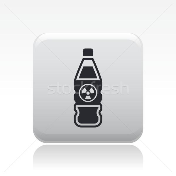 Photo stock: Nucléaire · bouteille · icône · bâtiment · pollution · étiquette