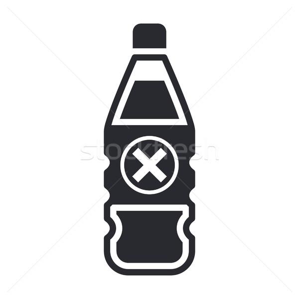 Tehlikeli şişe ikon etiket tehlike Stok fotoğraf © Myvector