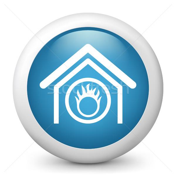 Stock foto: Blau · glänzend · Symbol