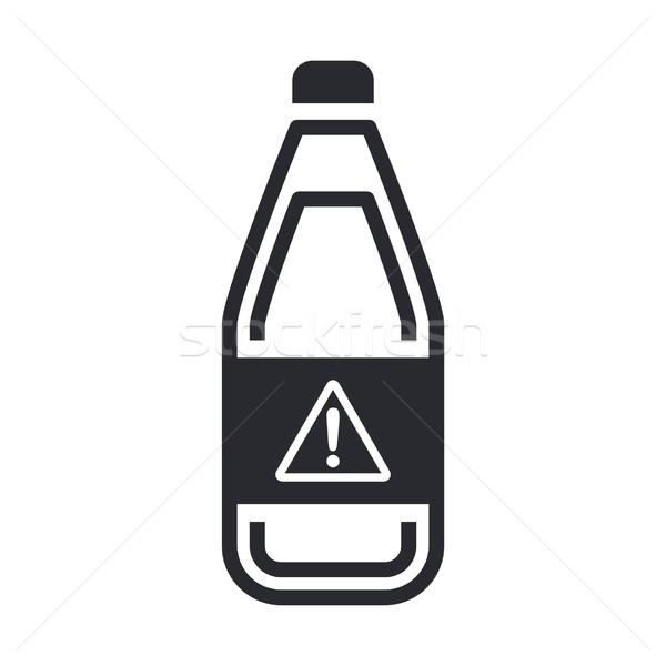 Tehlikeli şişe ikon sıvı kirlenme etiket Stok fotoğraf © Myvector