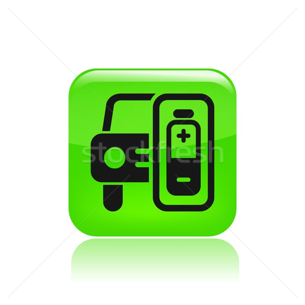 Charge car icon Stock photo © Myvector