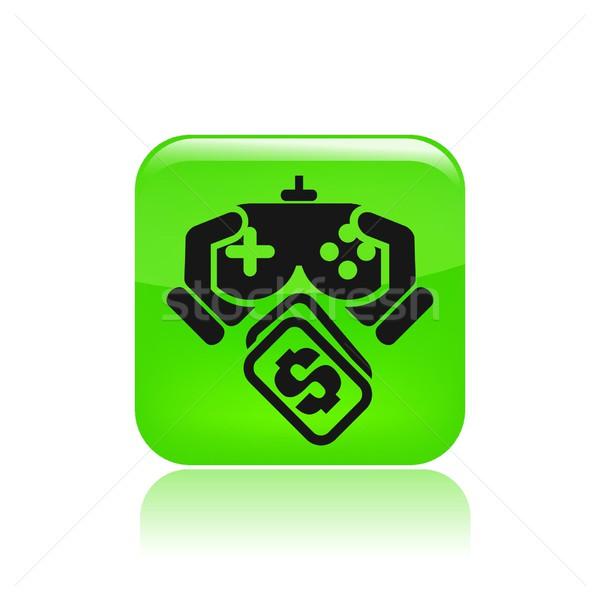 Jogar jogo custo ícone casa numerário Foto stock © Myvector