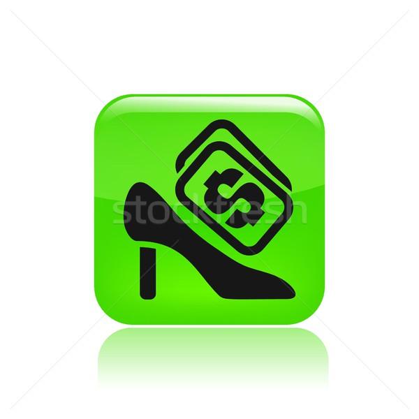 Sapato ícone mercado armazenar feminino venda Foto stock © Myvector