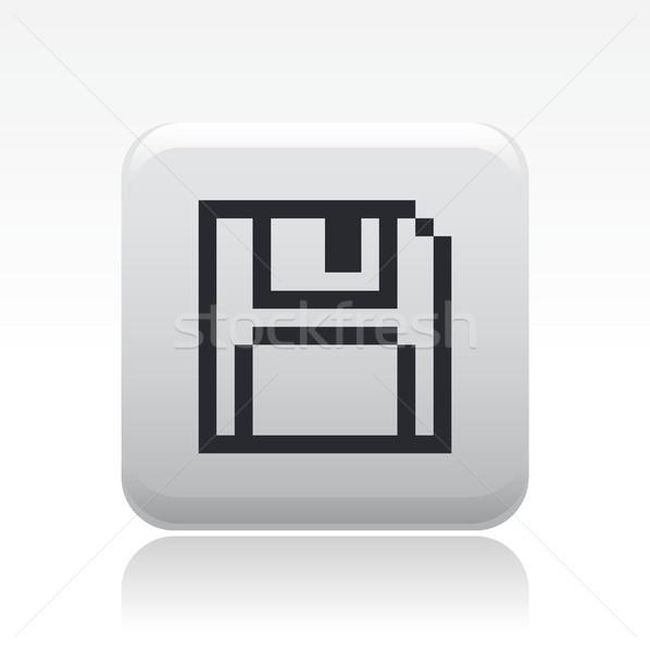 сохранить Пиксели икона компьютер концепция квадратный Сток-фото © Myvector