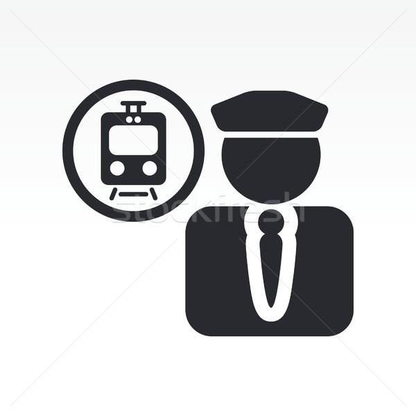 Train conductor icon Stock photo © Myvector