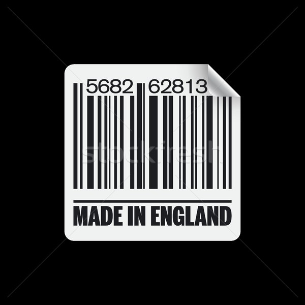 Angleterre icône marché encre Barcode échanges Photo stock © Myvector
