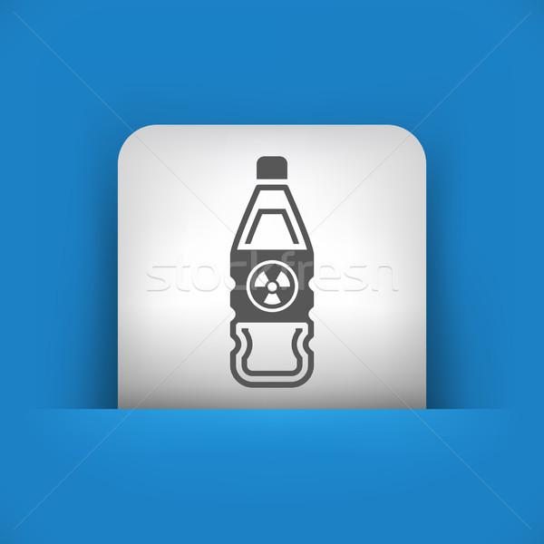 Kék szürke ikon biztonság ipar laboratórium Stock fotó © Myvector