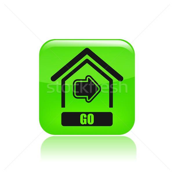 домой икона дома интернет кнопки сайт Сток-фото © Myvector
