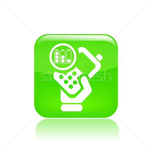 Battery phone icon Stock photo © Myvector