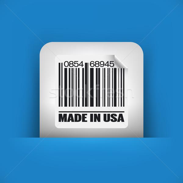 Kék szürke ikon piac vásár címke Stock fotó © Myvector