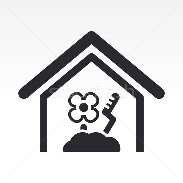 Boerderij icon home landbouwer vector Stockfoto © Myvector