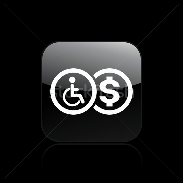 Handicap reimbursement icon Stock photo © Myvector