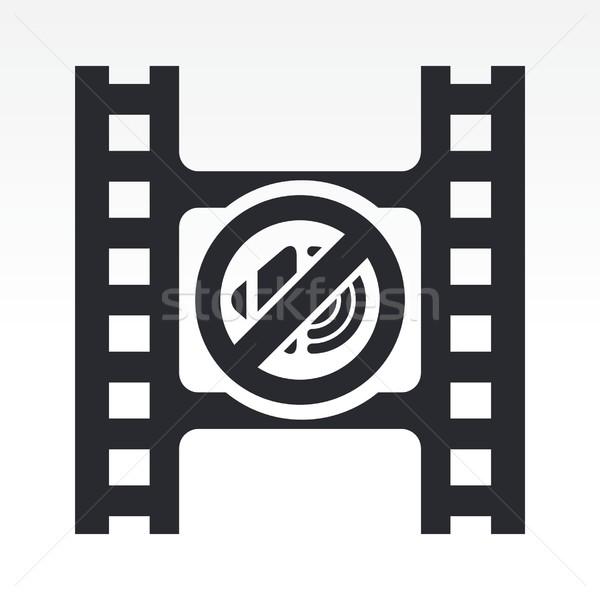 Video mute icon Stock photo © Myvector