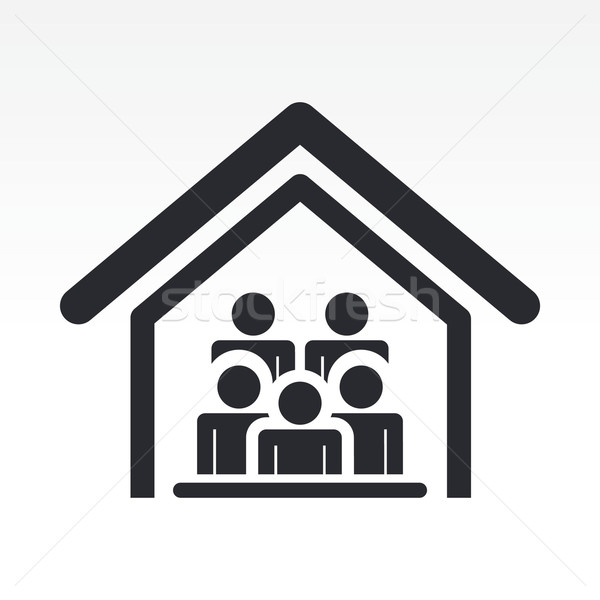 Guests house icon Stock photo © Myvector