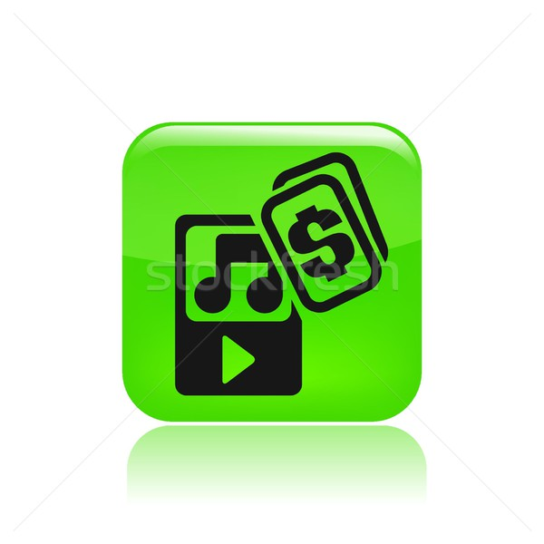 Muziekspeler icon geld muziek track Stockfoto © Myvector