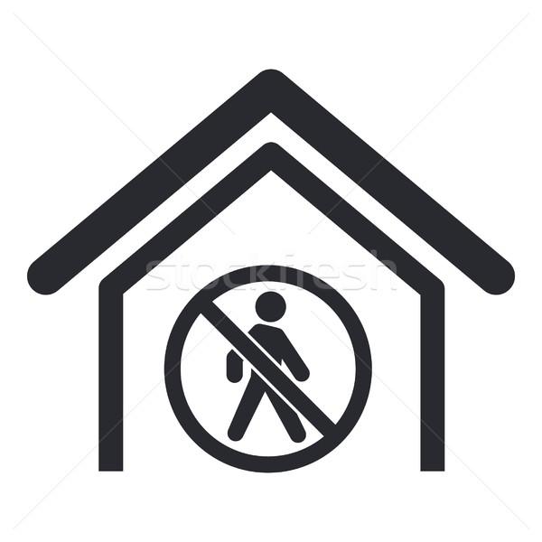 Verboden toegang icon home lopen geïsoleerd Stockfoto © Myvector