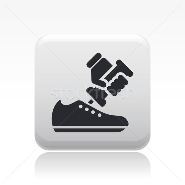 обуви ремонта икона обувь Сток-фото © Myvector