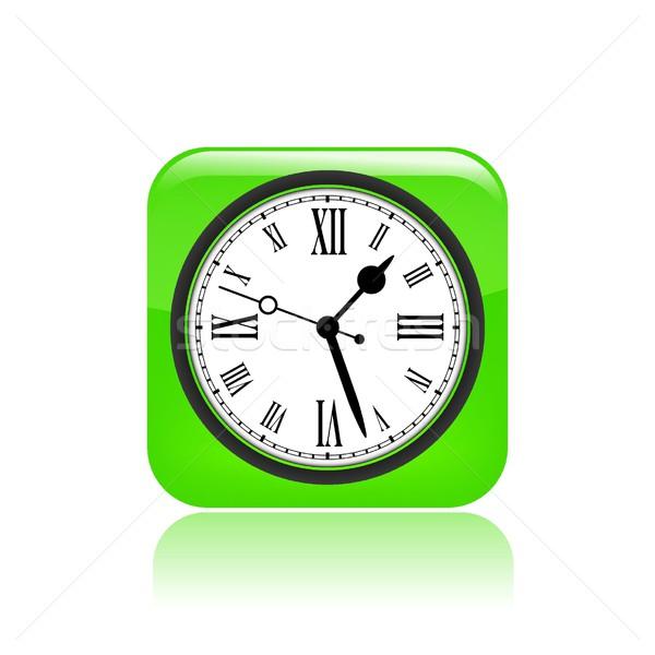 Relógio ícone tempo botão conceito Foto stock © Myvector