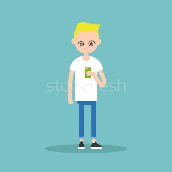 иллюстрация молодые мальчика Smart Сток-фото © nadia_snopek