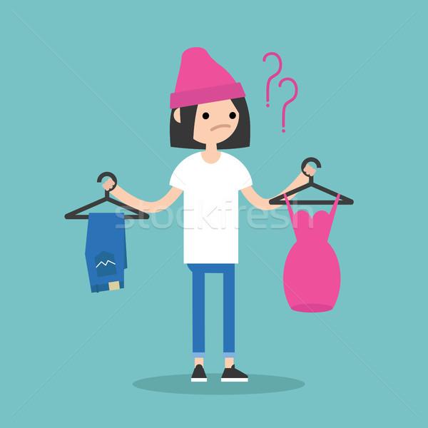 трудный выбора молодые что носить Сток-фото © nadia_snopek