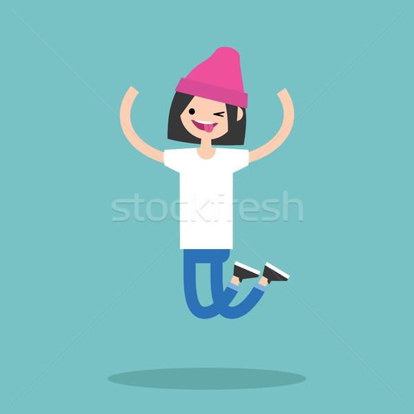 молодые прыжки девушки женщину Сток-фото © nadia_snopek