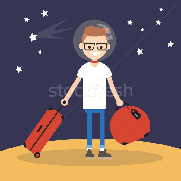 Mars Colonization: Young teenage character moving to mars with h Stock photo © nadia_snopek