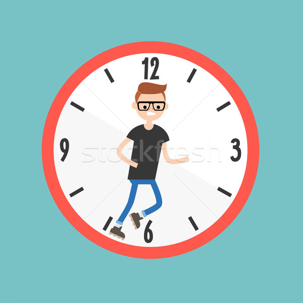 Running out of time conceptual illustration. Deadline. Flat edit Stock photo © nadia_snopek