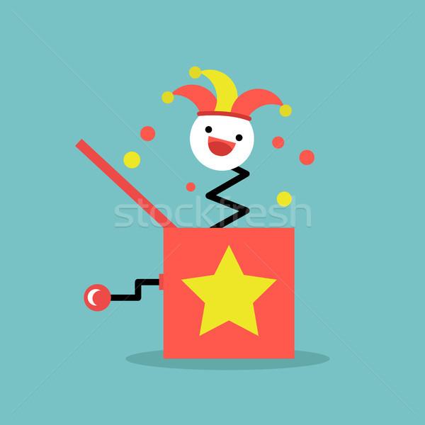Kutu oyuncak düzenlenebilir kırpmak sanat klibi kırmızı Stok fotoğraf © nadia_snopek