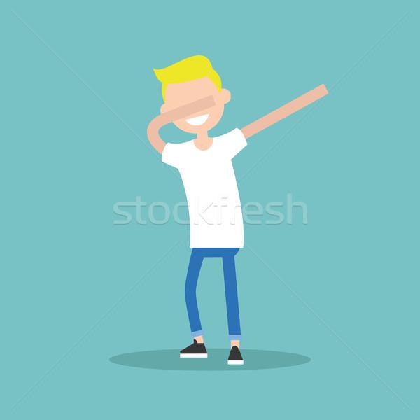 Genç karakter dans düzenlenebilir vektör Stok fotoğraf © nadia_snopek