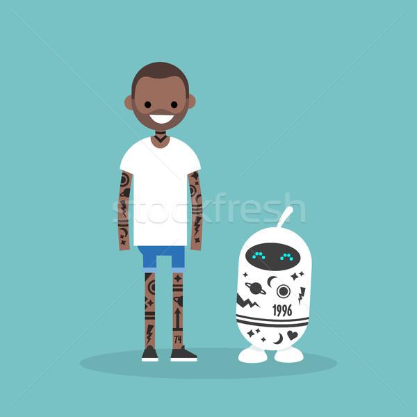 татуировка субкультура человека робота покрытый Сток-фото © nadia_snopek