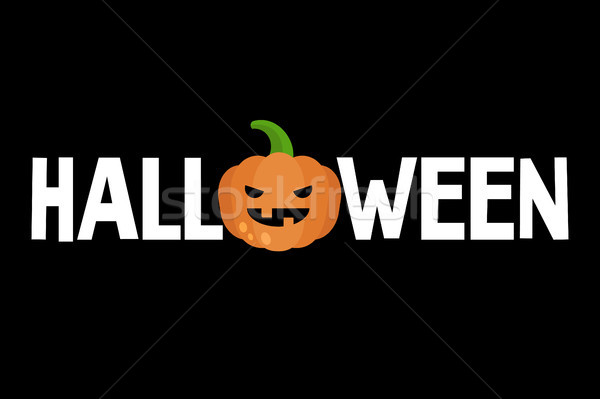 Halloween conceptual sign. Jack o'lantern. Scary carved pumpkin  Stock photo © nadia_snopek