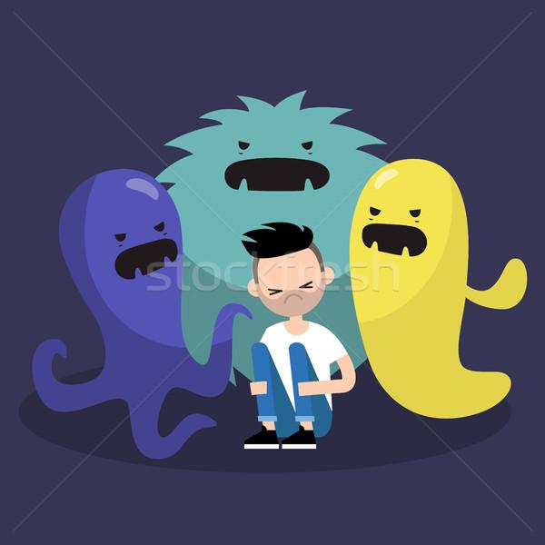 Bang karakter lelijk monsters clip art Stockfoto © nadia_snopek