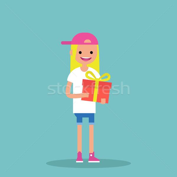 Jeunes heureux blond fille lumineuses Photo stock © nadia_snopek
