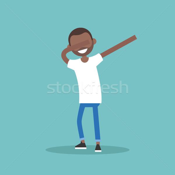 Genç siyah karakter dans düzenlenebilir Stok fotoğraf © nadia_snopek