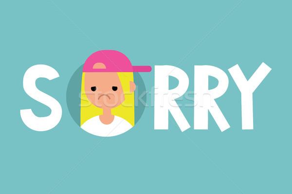 Geïllustreerd teken vector clip art Stockfoto © nadia_snopek