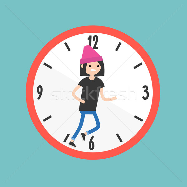 Running out of time conceptual illustration. Deadline. Flat edit Stock photo © nadia_snopek