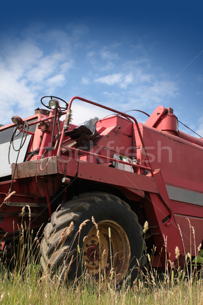 Stock photo: Harvester Machine