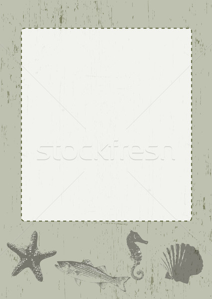 Stock photo: Sea Themed Frame