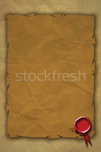 Red Wax Seal and Grunge Parchment Paper Stock photo © naffarts