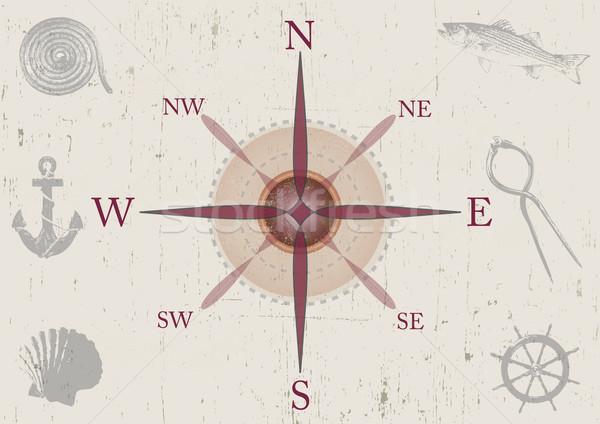 Nautical Compass Stock photo © naffarts