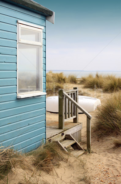 Beach Hut and Boat Stock photo © naffarts