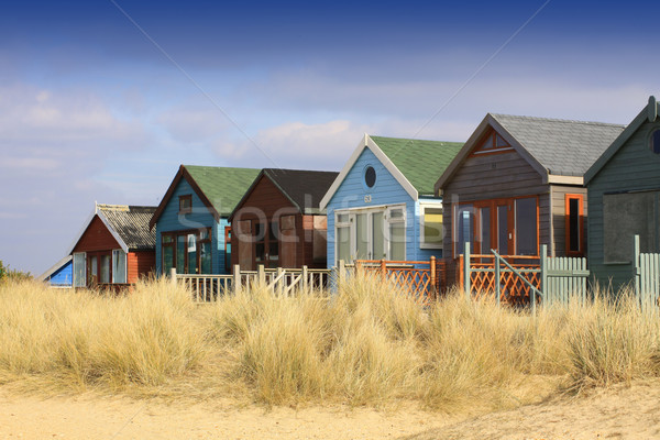 Row of Beach Huts Stock photo © naffarts