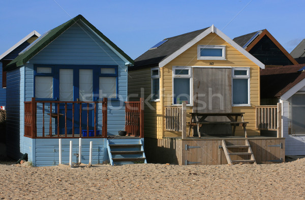 Beach huts Stock photo © naffarts