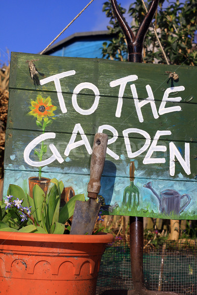 To The Garden Stock photo © naffarts