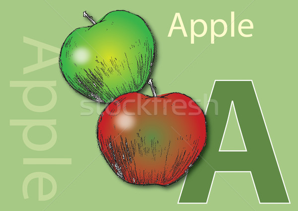 A for Apple Stock photo © naffarts