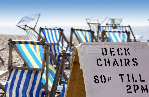 Deck Chairs for Hire Stock photo © naffarts