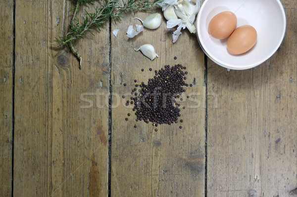 Kitchen Ingredients Stock photo © naffarts