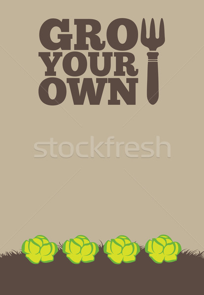 Grow Your Own poster_Lettuce Stock photo © naffarts