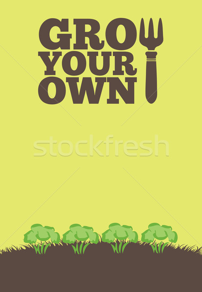 Grow Your Own poster_Broccoli Stock photo © naffarts